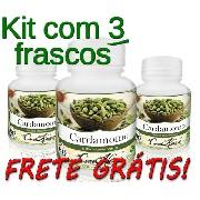 3 Potes De Cardamomo (elettaria Cardamomum) Em Cápsulas