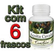 6 Frascos = 360 Cápsulas De Açoita Cavalo