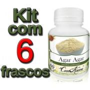 6 Frascos De Agar-agar Comkasca