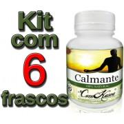 6 Frascos De Calmante Comkasca 60 Caps