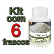 6 Frascos De Chitosana Comkasca ( Emagrecedor )