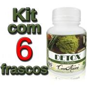 6 Frascos De Detox Natural
