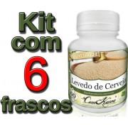 6 Frascos De Levedo De Cerveja (controla Diabetes)