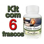 6 Potes= 360 Cápsulas De Saúde Óssea