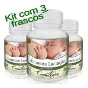 Aumenta Lactação - 3 potes de 60 cápsulas