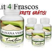 Banana Verde - 4 potes com 60 cápsulas