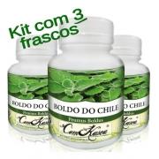 Boldo do Chile - 3 potes de 60 cápsulas