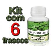 Boldo do Chile - 6 potes de 60 cápsulas