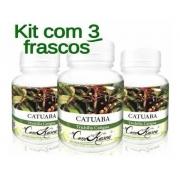Catuaba - 3 potes com 60 cápsulas
