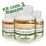 Farinha De Maracujá - 3 potes de 60 cápsulas