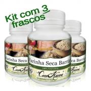 Farinha Seca Barriga - 3 potes com 60 cápsulas