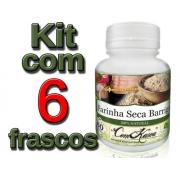 Farinha Seca Barriga - 6 potes com 60 cápsulas