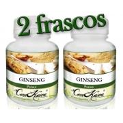 Ginseng - 2 potes com 60 cápsulas