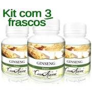 Ginseng - 3 potes com 60 cápsulas