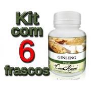 Ginseng - 6 potes com 60 cápsulas