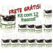 Kit 12 Frascos Açaí (100% Puro)