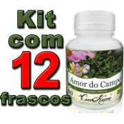 Kit 12 Frascos De Amor Do Campo 60 Caps