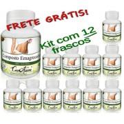 Kit 12 Frascos De Emagrecedor Comkasca