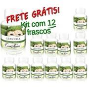 Kit 12 Frascos De Graviola Com 60 Capsulas
