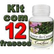 Kit 12 Potes De Amor Do Campo Em Cápsulas
