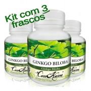 Kit 3 Ginkgo Biloba 60 Cáps/frasco