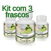 Kit 3 Potes De Bicarbonato Com Limão Em Cápsulas