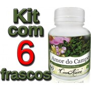 Kit 6 Frascos De Amor Do Campo 60 Caps