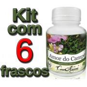 Kit 6 Potes De Amor Do Campo Em Cápsulas