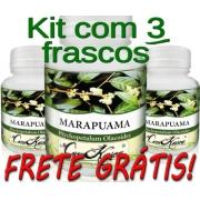 Marapuama - 3 potes com 60 cápsulas