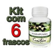 Marapuama - 6 potes com 60 cápsulas