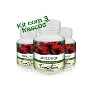 Mulungu - 3 potes de 60 cápsulas