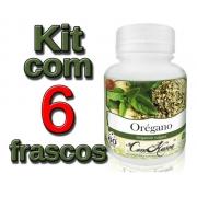 Orégano - 6 potes com 60 cápsulas