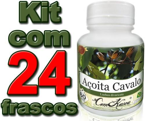 24 Frascos = 1440 Cápsulas De Açoita Cavalo