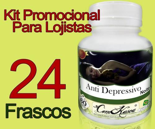 24 Frascos De Anti Depressivo Para A Noite Em Cápsulas