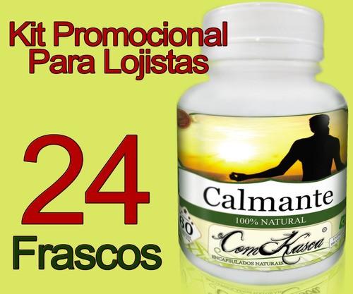 24 Frascos De Calmante Comkasca 60 Caps