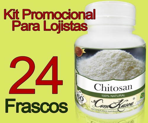 24 Frascos De Chitosana Comkasca ( Emagrecedor )