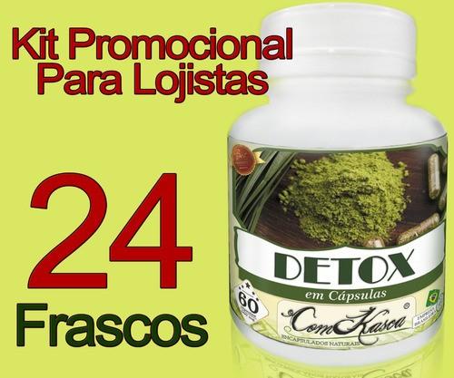 24 Frascos De Detox Natural