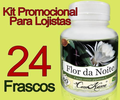 24 Frascos De Flor Da Noite Comkasca - 100% Natural