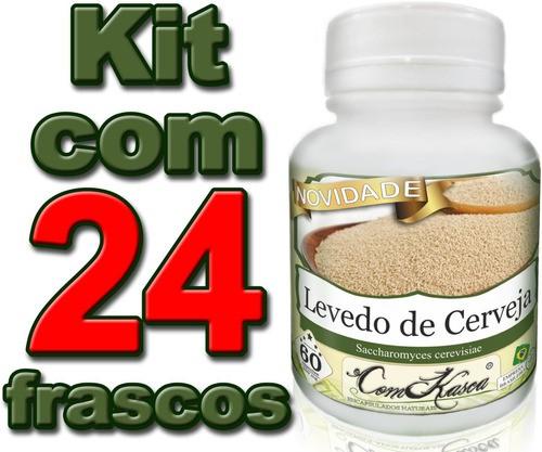 24 Frascos De Levedo De Cerveja (ajuda Na Digestão)