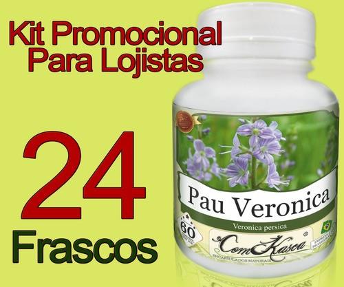 24 Frascos De Pau Veronica (previne Enxaqueca E Má Digestão)