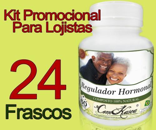 24 Frascos De Regulador Hormonal