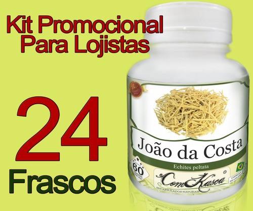 24 Frascos João Da Costa (previne Artrites,cólica E Dores)