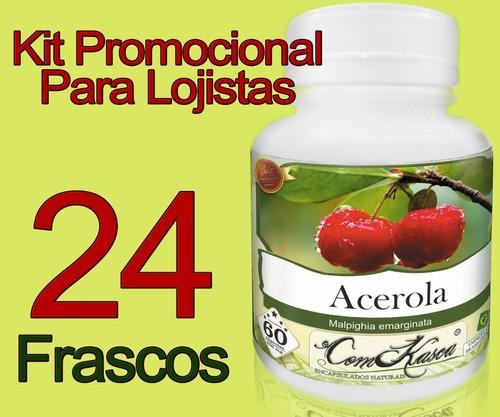 24 Potes De Acerola Comkasca 60 Caps