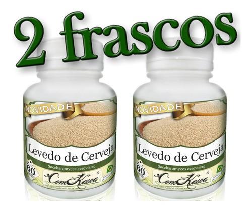 2 Frascos De Levedo De Cerveja (saccharomyces Cerevisiae)