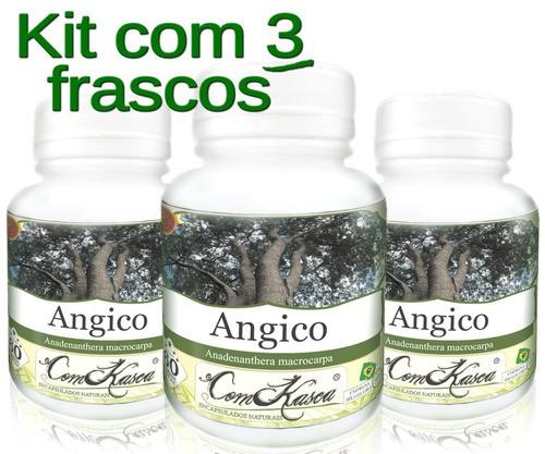 3 Frasco De Angico 60 Cápsulas