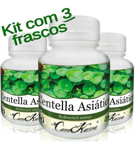3 Frascos = 180 Cápsulas De Centella Asiática