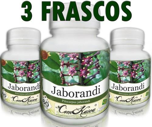 3 Frascos = 180 Cápsulas De Jaborandi - Sudorífero