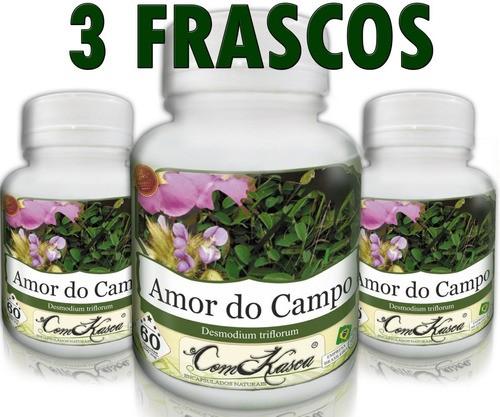 3 Frascos De Amor Do Campo - Diurético