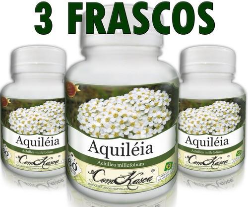 3 Frascos De Aquiléia - Problemas Do Fígado