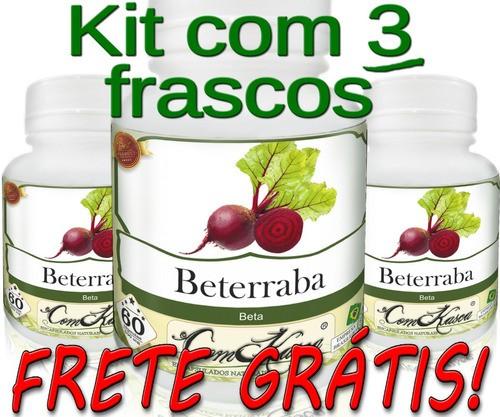 3 Frascos De Beterraba Comkasca ( 100 % Natural )